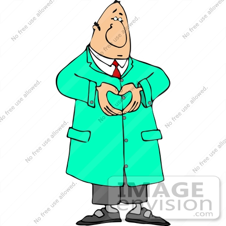 450x450 Caucasian Male Cardiologist Doctor Forming A Heart With His Hands