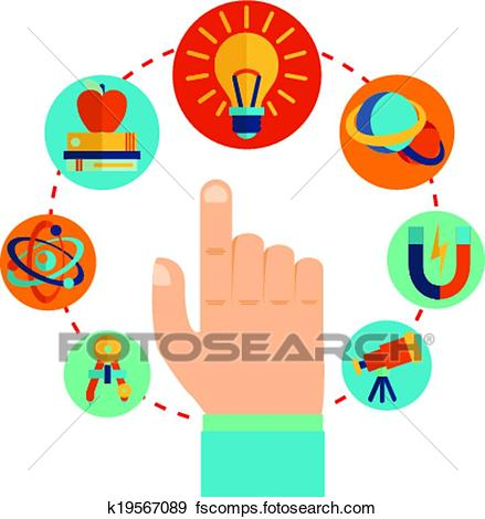 439x470 Clip Art Of Physics Signs Concept K19567089