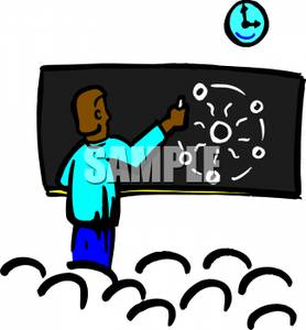 278x300 Picture A Teacher Teaching Physics on a Blackboard