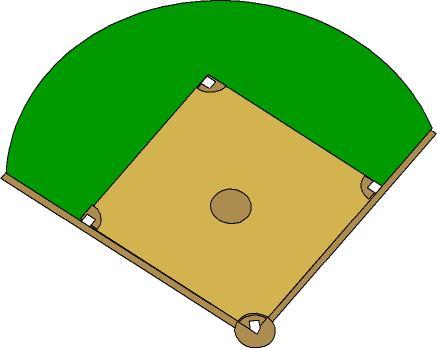 437x348 Baseball Field Clip Art 4 4