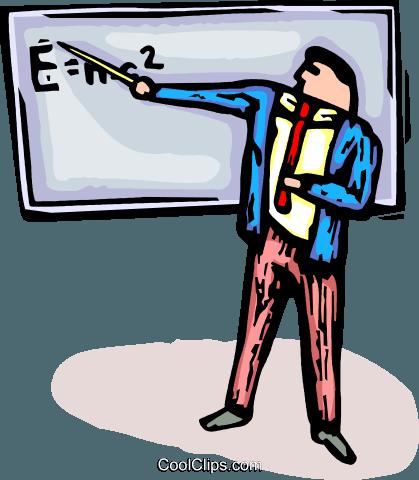 419x480 Physics Teacher Royalty Free Vector Clip Art Illustration
