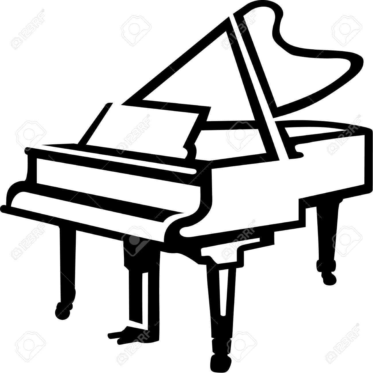 1300x1300 Drawing Clipart Piano