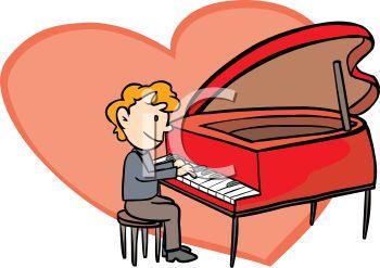 350x247 Man Playing A Heart Shaped Piano