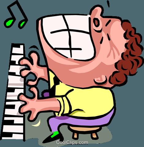 470x480 Piano Clipart Man