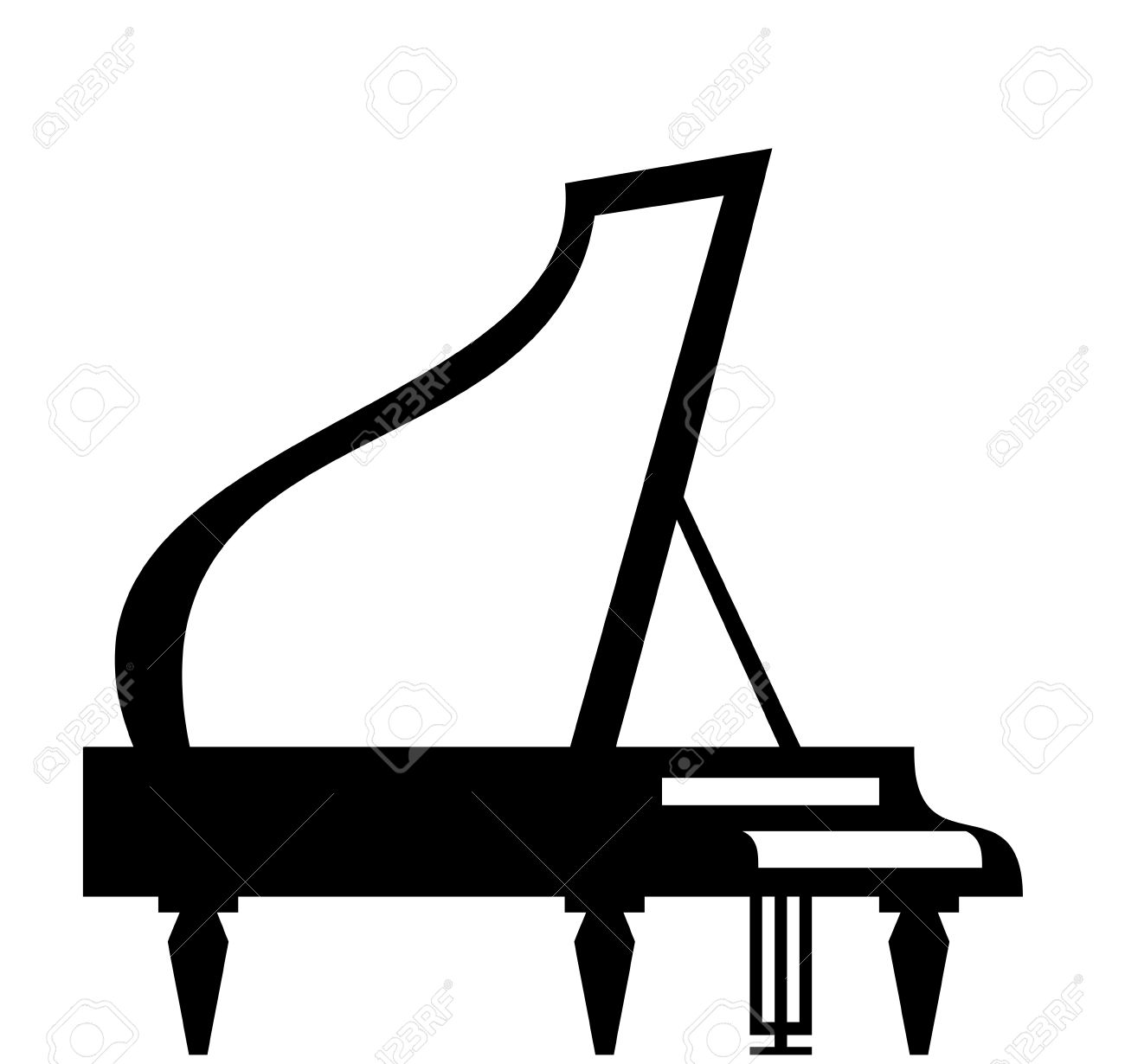 1300x1230 Piano Clipart Outline