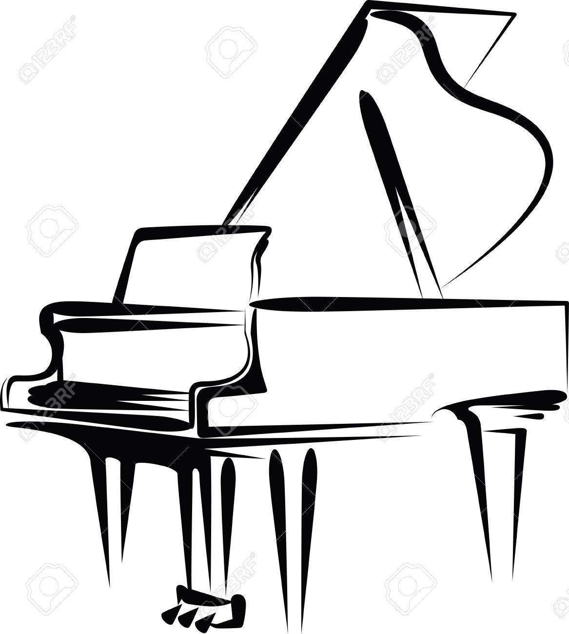 1167x1300 Sketch Clipart Piano