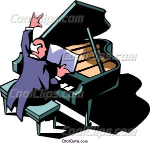 300x285 Concert Pianist Vector Clip Art