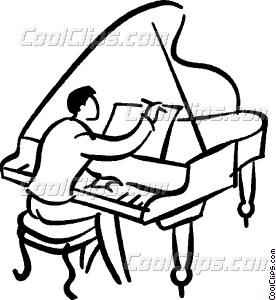276x300 Pianist Vector Clip Art