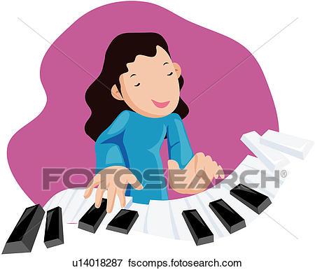 450x386 Clip Art Of Music, Keyboard, Piano, Instrument, Culture U14018287