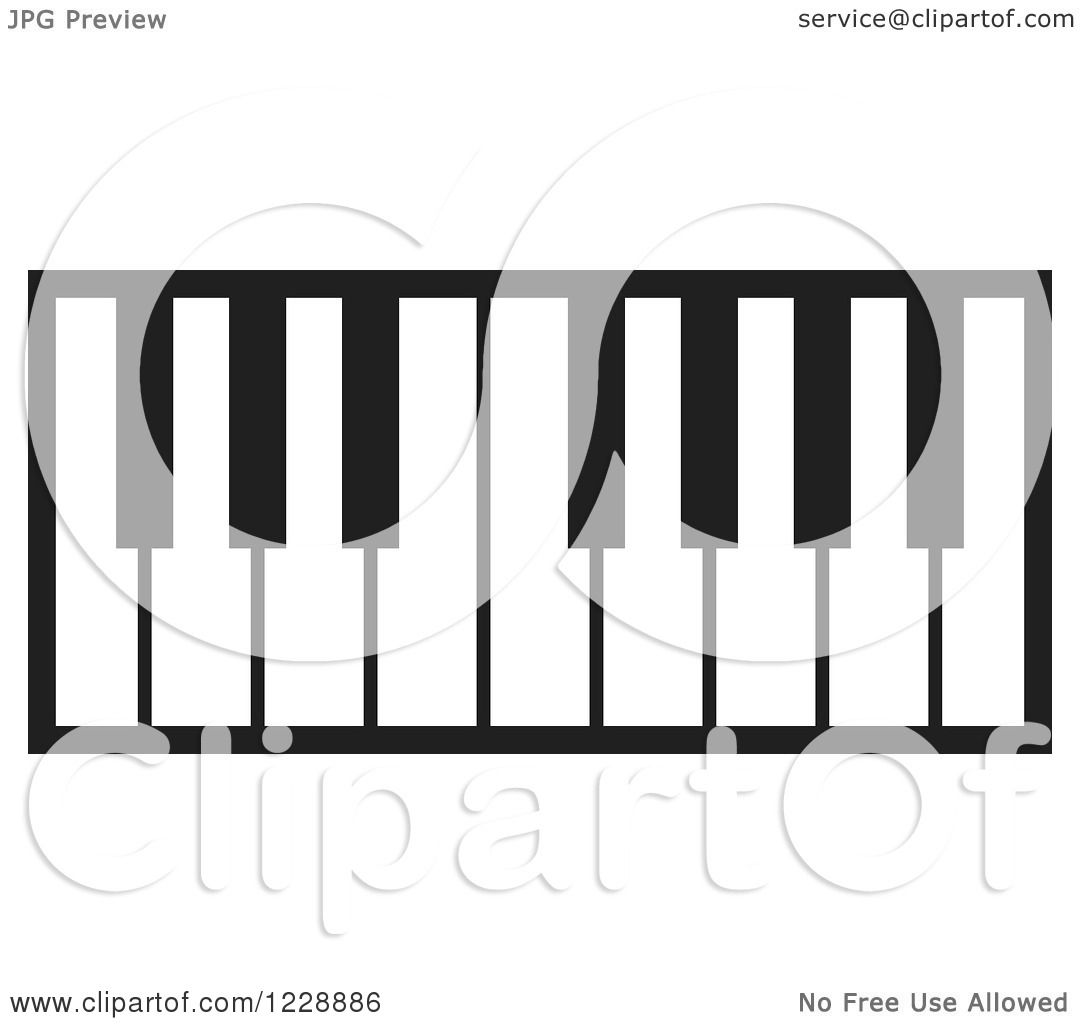1080x1024 Clipart Of A Black And White Piano Keyboard Icon