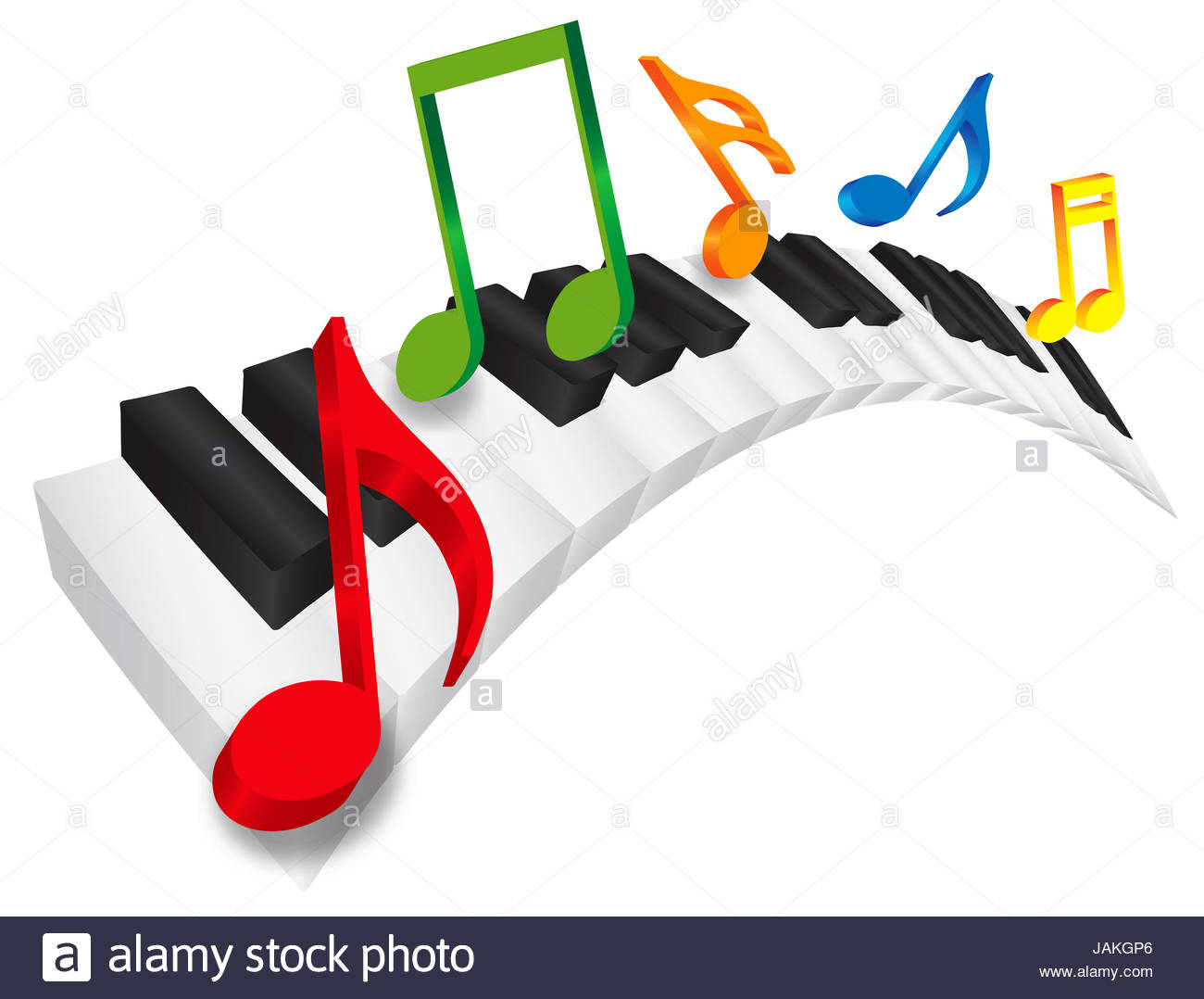 1300x1078 Piano Keyboard With Black And White Wavy Keys And Colorful Music