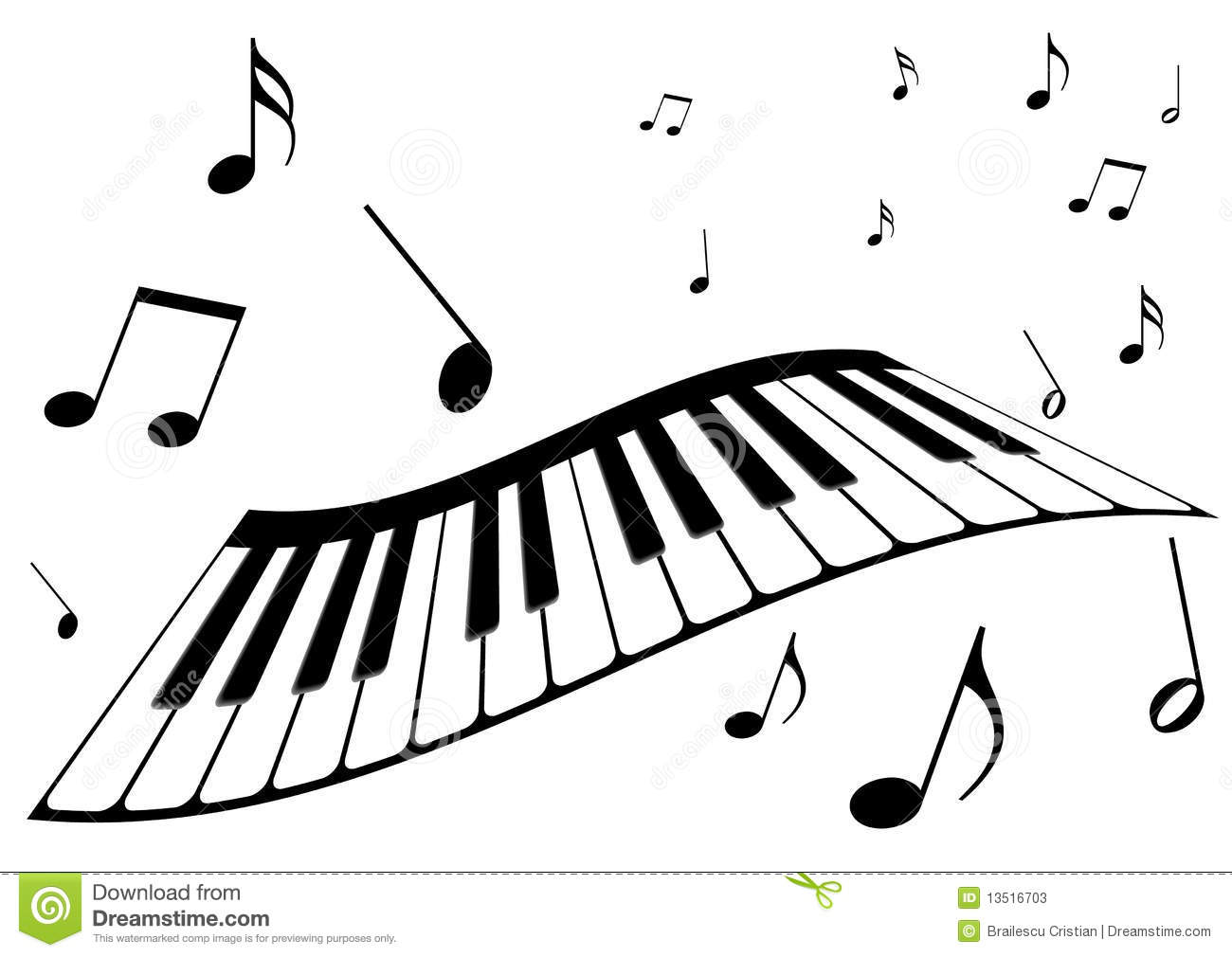 1300x1010 Piano Music Clipart Black And White