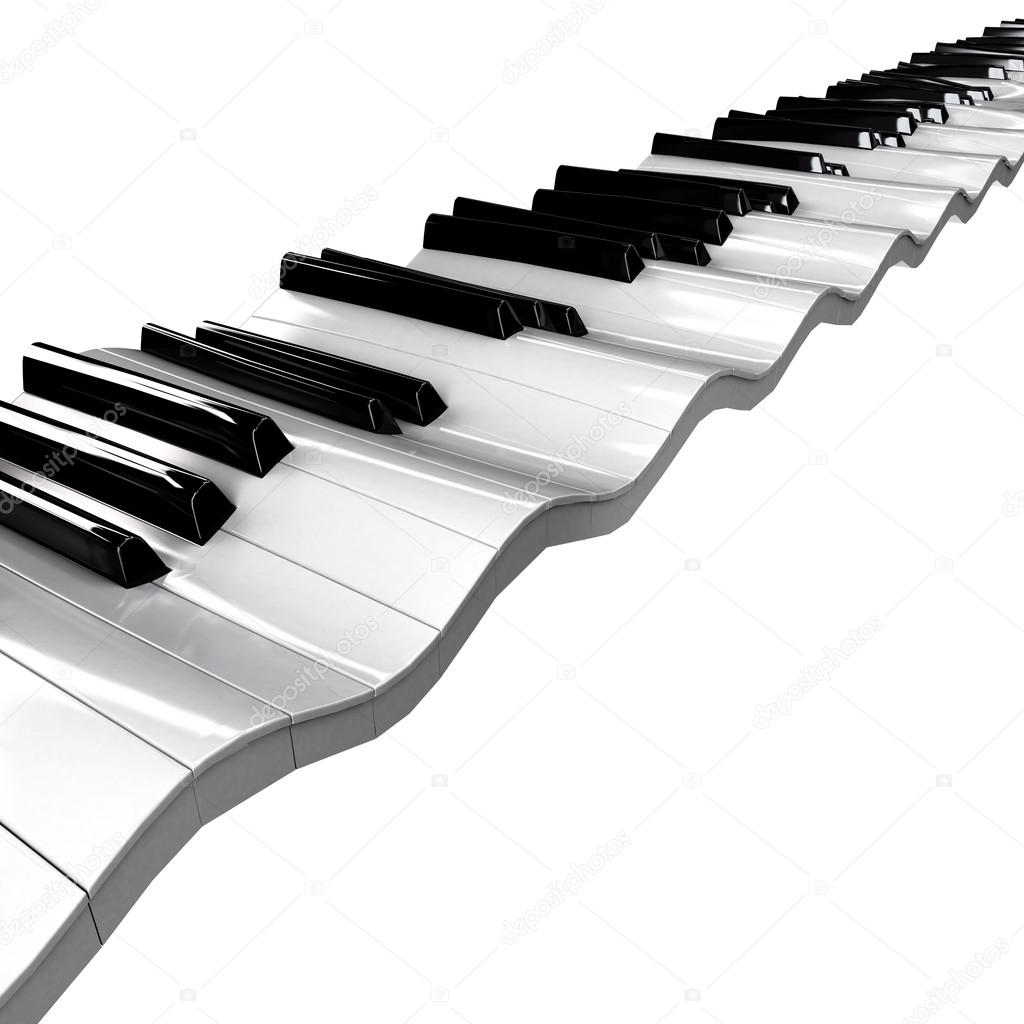 1024x1024 Wavy Piano Keyboard Stock Photo Annamarynenko