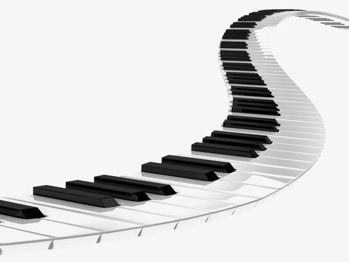 500x375 Piano Road, Black And White, Music, Road Png Image For Free Download