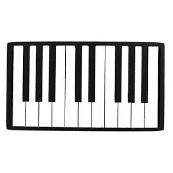 350x350 Blue Banana Piano Keys Belt Buckle, White Buckle, Custom Buckle Uk