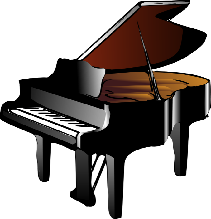677x700 Baby Grand Piano Clipart