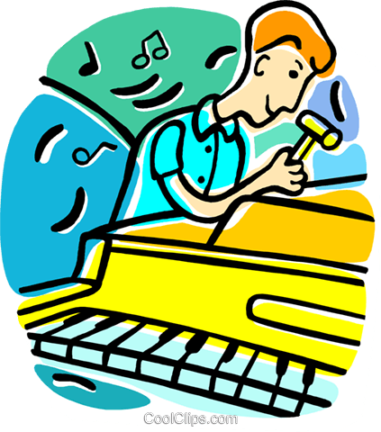 423x480 Piano Tuner Royalty Free Vector Clip Art Illustration Vc015621