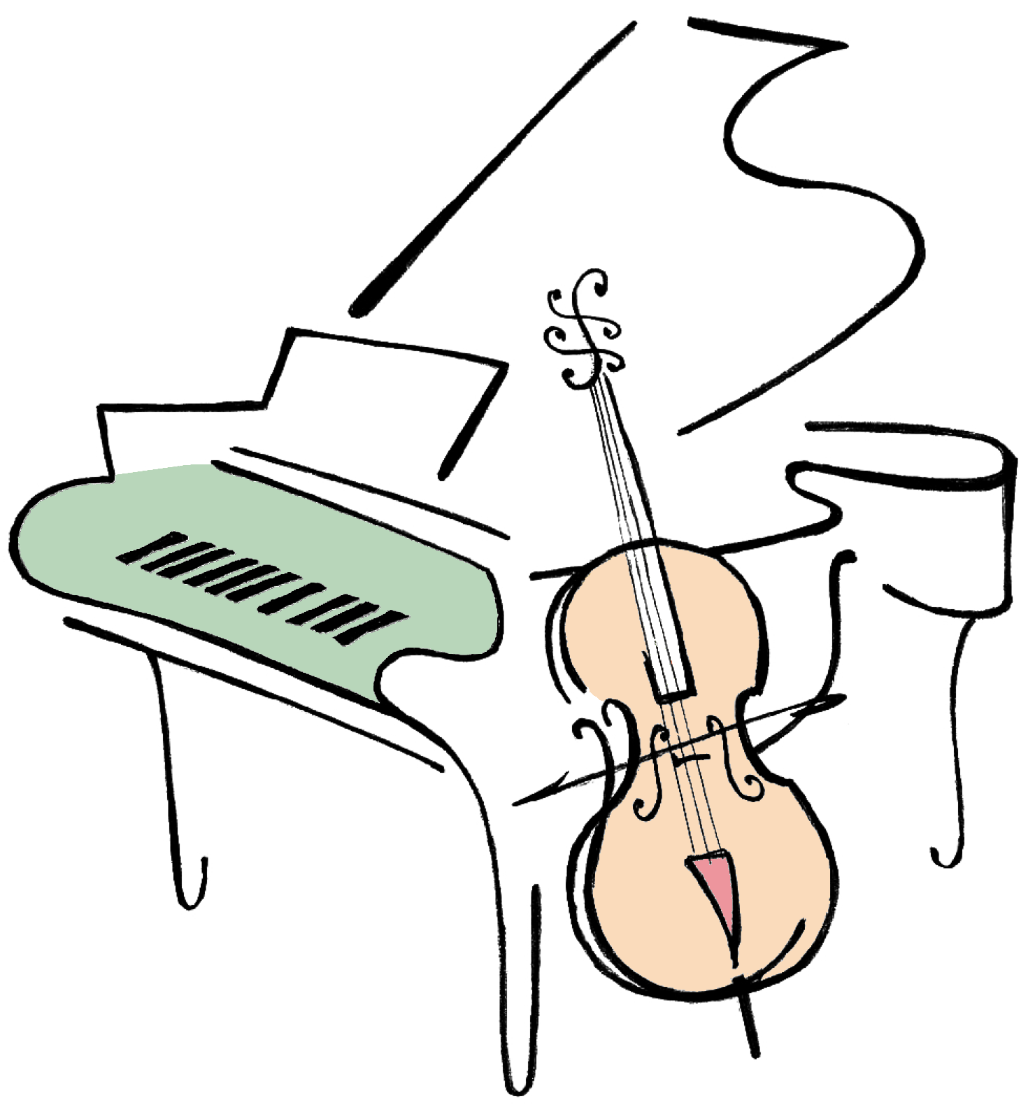 1470x1590 Piano Clipart Cello