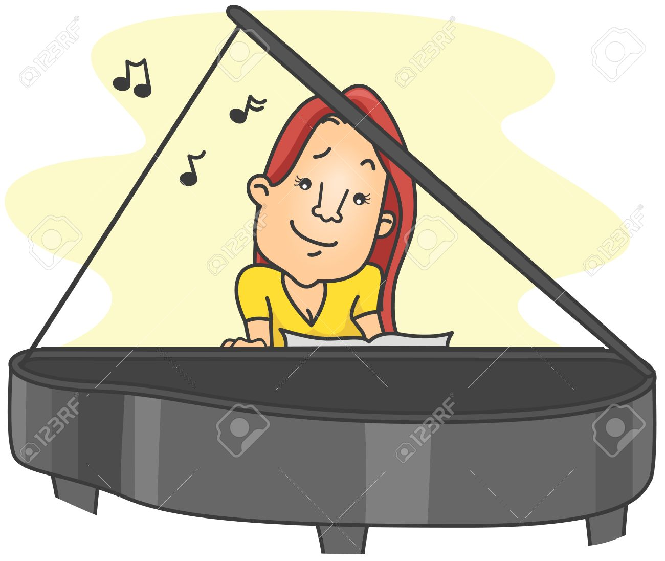 1300x1096 Piano Clipart Lady