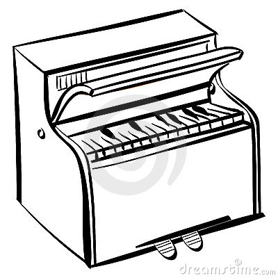 400x400 Piano Clipart Outline