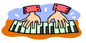 300x151 Playing Piano Clipart Free Clipart Images