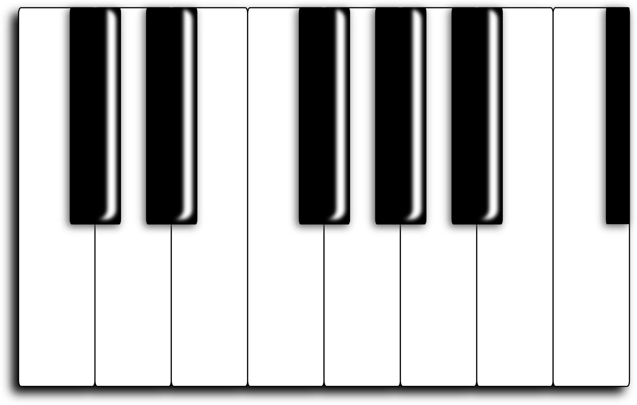 2069x1315 Piano Keyboard Clipart