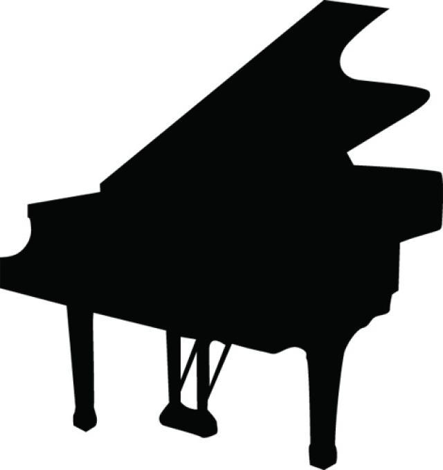 640x679 Piano Silhouette Clipart