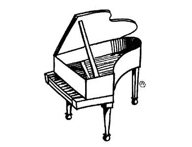390x300 Piano Clipart Cute