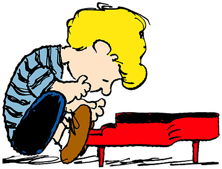 458x348 Charlie Brown Character Playing Piano Clipart