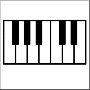 304x304 Clip Art Piano Keys Bampw I Abcteach