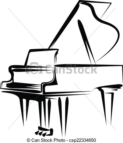 404x470 Drawing Clipart Piano