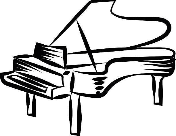 612x472 Drawn Piano Clip Art