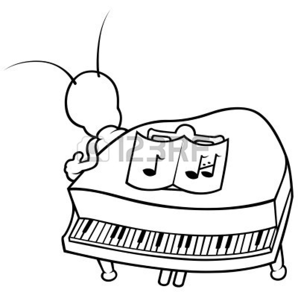 1200x1200 Images Of Cartoon Illustration Of Piano