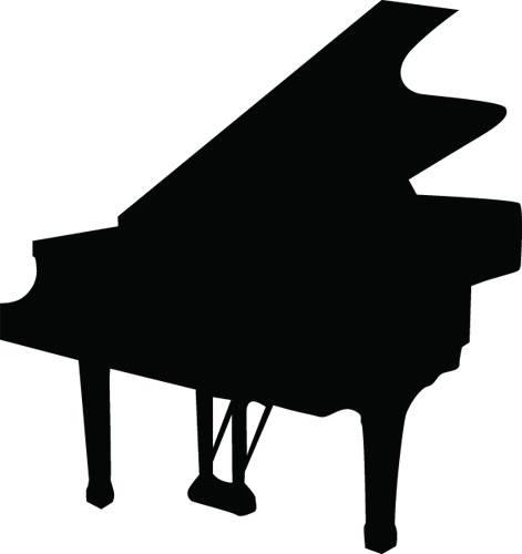 471x500 Piano Silhouette Clip Art
