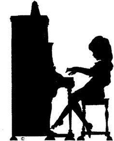 236x291 Reading Silhouette Girl Playing Piano Silhouette Books Worth