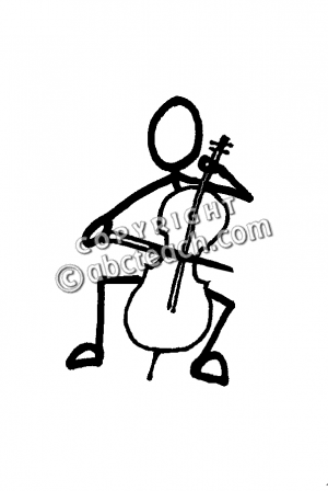 300x448 Cello With Piano Cartoon Clipart