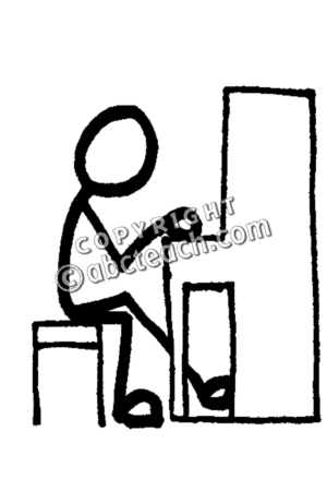 300x450 Man Playing Piano Clipart