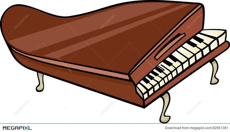 800x459 Piano Clip Art Cartoon Illustration Illustration 32951361