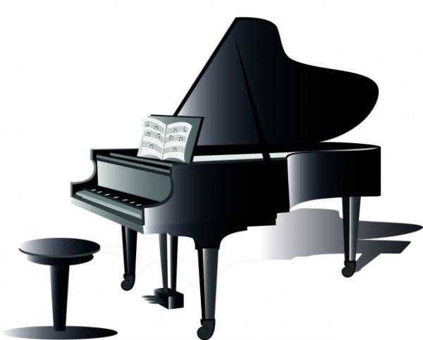 600x482 Piano Clipart 6