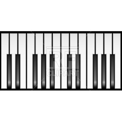 400x400 Piano Keyboard Royalty Free Vector Clip Art Image