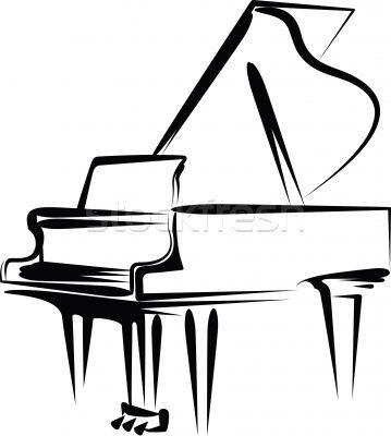 359x400 Free Piano Clipart