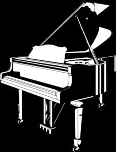 228x297 Grand Piano Clip Art