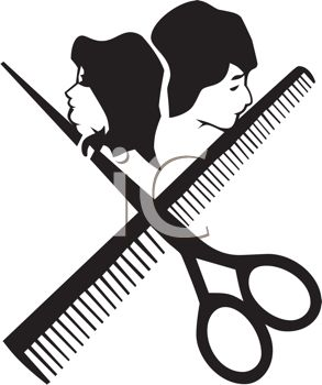 293x350 Hair Stylist Icon With Scissors And A Comb