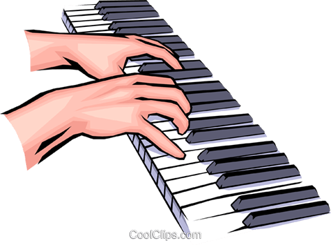 480x355 Hands Playing The Piano Royalty Free Vector Clip Art Illustration