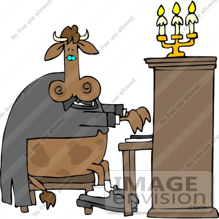 450x450 Cow Playing A Piano Clipart