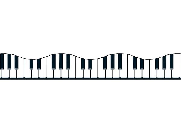 600x440 Piano Clipart Border