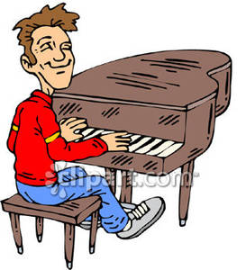 273x300 Playing Piano Clipart