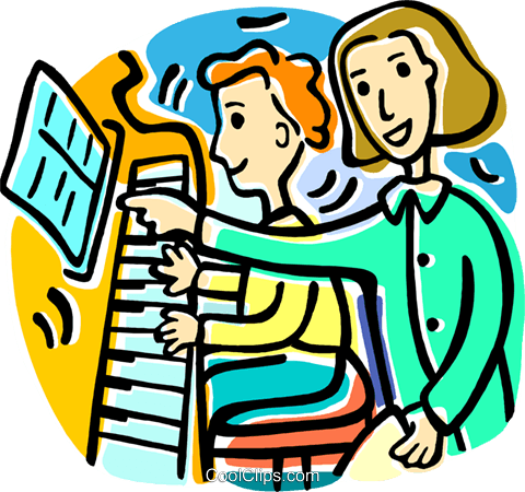 480x450 Piano Lessons Royalty Free Vector Clip Art Illustration Vc016808