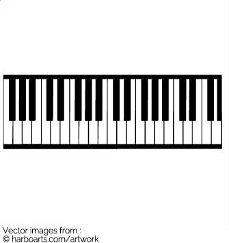 335x355 Photo Collection Piano Keyboard Vector Pictures