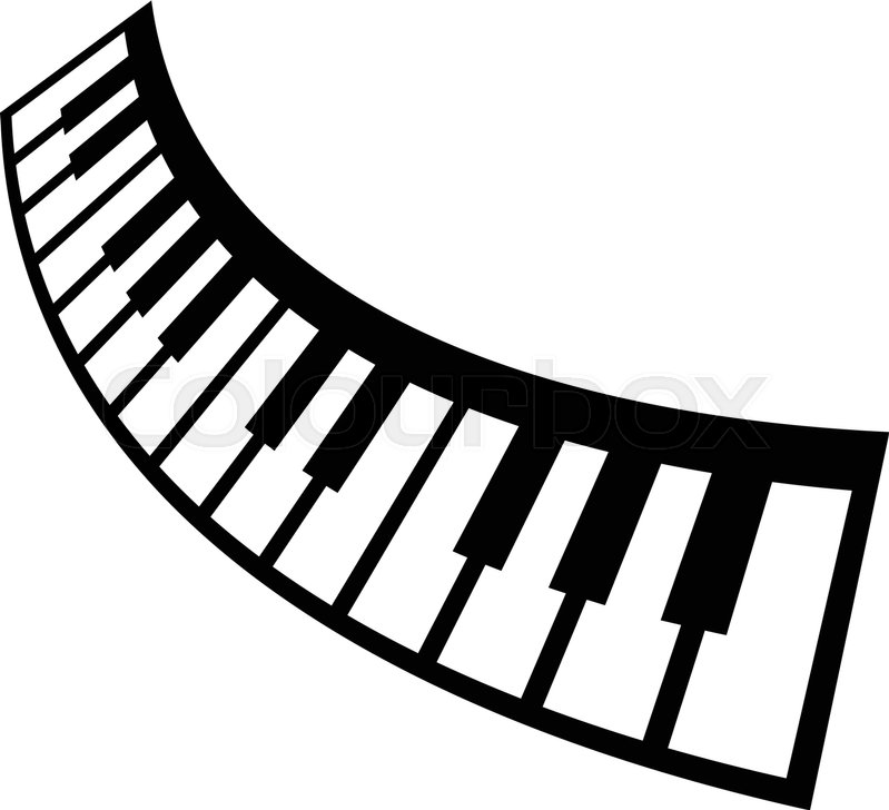 799x728 Piano Keyboard Musical Instrument Vector Icon Stock Vector